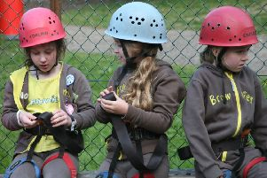 The Brownies made sure they were safe and ready before taking part in the activities