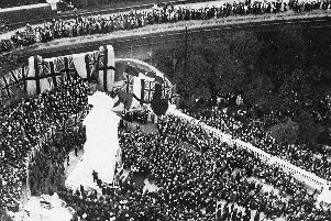 On October 19, 1921, Prince Arthur, the Duke of Connaught unveiled the Cenotaph adjacent to the Guildhall.