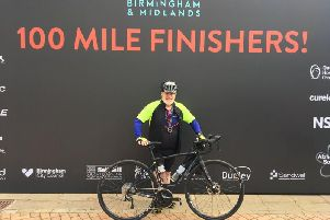 Garry Swinburn at the end of the Velo 100-mile ride