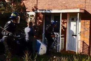 Police raided the address just after 8am