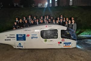 Ardingly College has been shortlisted for the Science, Technology and Engineering team of the year in this year's prestigious TES Schools Awards. Students are pictured with the solar car