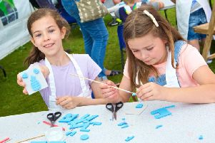 Childrens Workshops at West Dean Arts and Craft Festival 2018. Photo by Barney Poole