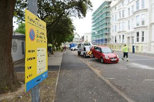 Vehicles that have not been removed from the restricted parking areas around Southsea Common in time are towed away by vehicle recovery specialists.  Photographs taken on Western Parade, Southsea. Picture: Morten Watkins/Solent News & Photo Agency