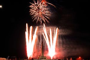 'D DAY SATURDAY EVENING     (JT)      MRW    7/6/2014''The '1940's Concert' held on Southsea Common during Saturday evening included a big band finale and a spectacular firework display to end the event 'Picture: Malcolm Wells (141688-4305)