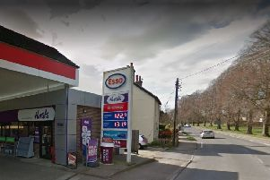 The car caught fire near Esso petrol station in Cuckfield. Picture: Google Street View