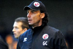 Crawley Town manager Gabriele Cioffi. Picture by Steve Robards
