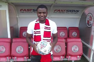 Beryly Lubala. Picture courtesy of Crawley Town
