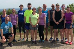 Athletes from Haslemere Borders - the club organising the Gibbet Hill 10k