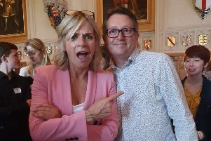 Mid Downs Radio presenter Paul Halliday with new patron Zoe Ball