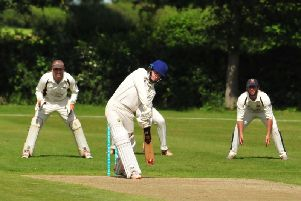 Mathew Nobes on his way to 38 for Barby in their 95-run win, which sees them into the last 16 of the competition