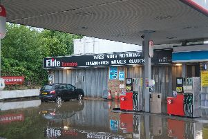 Flash flooding in Haywards Heath