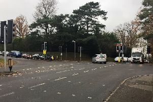 A major improvement scheme starts soon at Stonepound Crossroads, Hassocks. Picture: WSCC