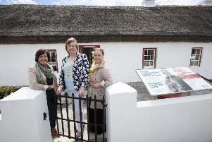 Mid and East Antrim Borough Council's tourism team Patricia McEldowney and Alison Mawhinney with the Mayor, Cllr Maureen Morrow.