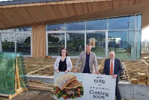Christina Ewbank, Robert Beacham, and David Tutt at the site of the new Bistrot Pierre restaurant on Eastbourne's seafront
