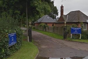 The entrance to the lane leading to the nursing home. Photo: Google Streetview.