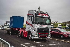 Michael drives for the family firm Wallace Bros Haulage