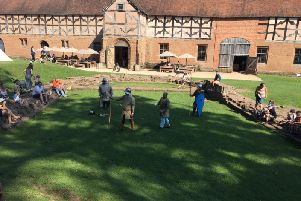 Demonstration during the Battle of Kenilworth Castle event over theAugust  bank holiday weekend.
