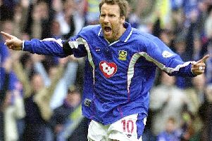Paul Merson was a pivotal performer in Harry Redknapp's Pompey team which won the Division One title in 2002-03. Picture: Steve Reid