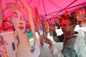 Jason Rogers, U Can Spray, at Lindfield Arts Festival last year. Picture: Peter Cripps