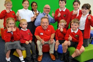 Warwick Davis at Northlands Wood Primary Academy