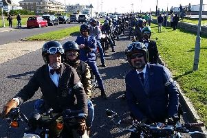 Last year's West Sussex Distinguished Gentleman's Ride on Worthing seafront