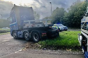 A truck has jackknifed on the A24 north of Horsham SUS-190925-170106001