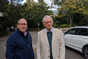 Burgess Hill district councillors Robert Eggleston and Roger Cartwright have opposed the allocation of a site for housing off Folders Lane and Keymer Road