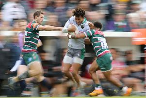 Ryan Olowofela was in action at Welford Road