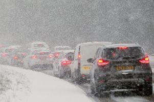Snow has affected various parts of Northern Ireland this week