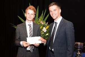Adam is pictured with special guest, Daniel Clawson, who graduated from Stranmillis in 2013.