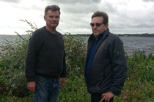 Thomas McElhone pictured left, and Damian McElhone at Traad Point