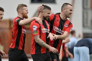 Crusaders Rory Patterson celebrates
