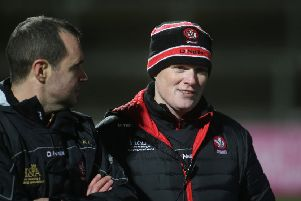 Derry manager Damian McErlain. (INPHO/Lorcan Doherty)