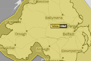The weather warning was issued on Friday morning.