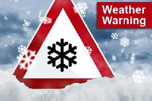 The weather warning is active between 3:00pm on Tuesday and 11:00am on Wednesday.