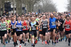 The start of the 20 mile race last year