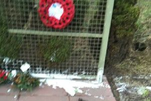 The latest attack on the memorial to eight men murdered at Teebane. This time paint has been thrown around the wreaths and memorial.