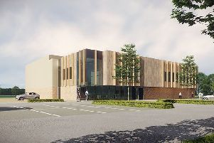 An artist's impression of the leisure centre
