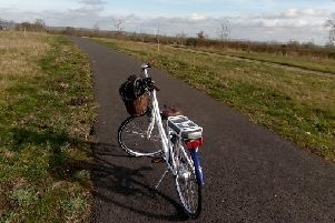 Cycling on Waddesdon Greenway. Picture copyright Heather Jan Brunt