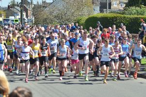Action from the Langtoft 10k.