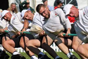 Scalford's tug of war champions in action at last year's world championships EMN-191203-181906002