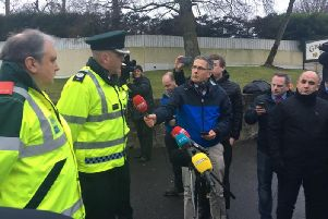 ACC Hamilton speaking to press in Cookstown this morning