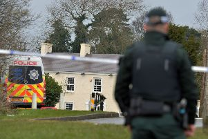 Police at the scene after three teenagers died after a crush at a St Patrick's Day party at a hotel in Cookstown. 'A 17-year-old girl and two boys aged 16 and 17 died after the incident outside the Greenvale Hotel on Sunday night.' A number of other teenagers have also been treated in hospital.'Pic Colm Lenaghan/Pacemaker