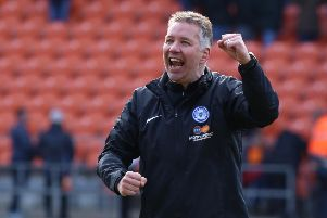 Accrington Stanley gave Posh boss Darren Ferguson a reason to celebrate.