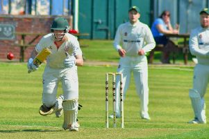 Dom Exton anchored the innings during Thorpe's early collapse with a patient 26