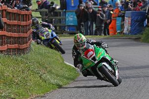 Derek McGee on his way to victory in the KDM Hire Cookstown 100 Superbike race on Saturday. Picture: Pacemaker Press.