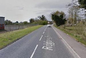 Roguery Road, Toome, where last night's fatal crash happened.