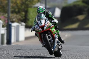 Glenn Irwin will start the Superbike races at the North West 200 on Saturday in pole position on his Quattro Plant Kawasaki.
