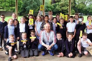 Author Matt Haig at Glebe Primary School in Southwick. Picture: Derek Martin DM1961706a