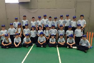 The Kirkby La Thorpe School pupils who took part in the ICC Men's Cricket World Cup. EMN-190207-105327001